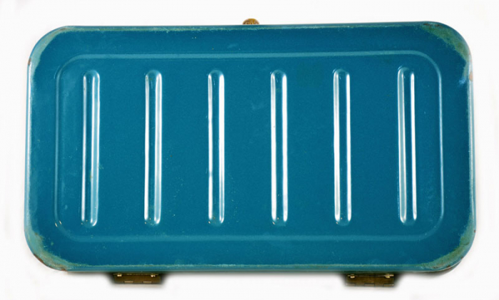 Petrol blue bread box e. bl 7