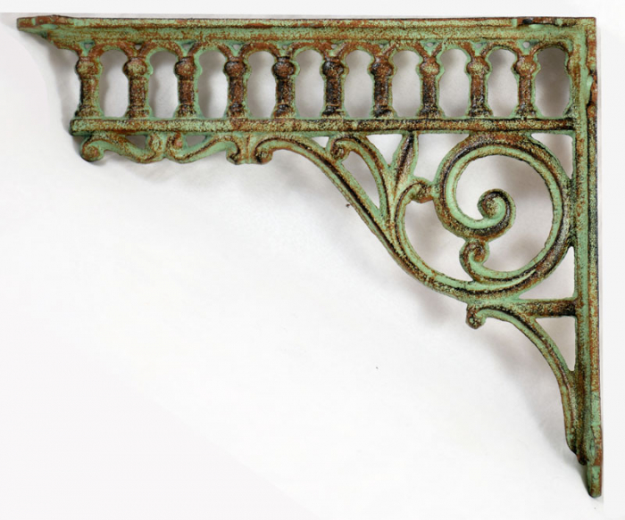 Cast iron wall support holder set