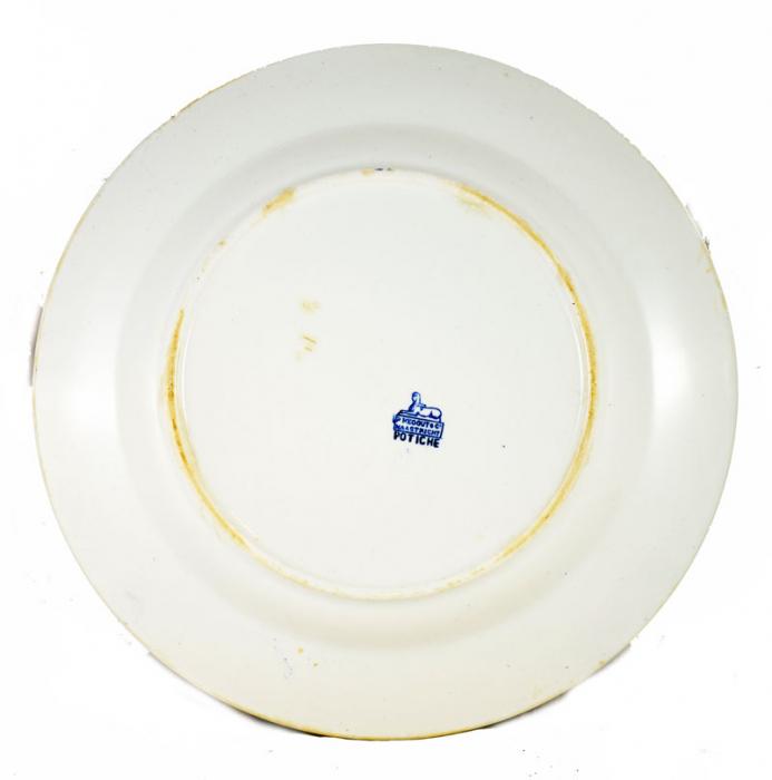 Large plate Potiche ag. d 14