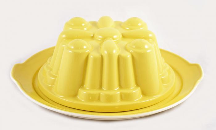 Pastelgele puddingvorm kk. v 3