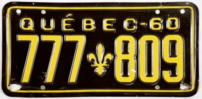 Vintage kentekenplaat Québec c. d 1