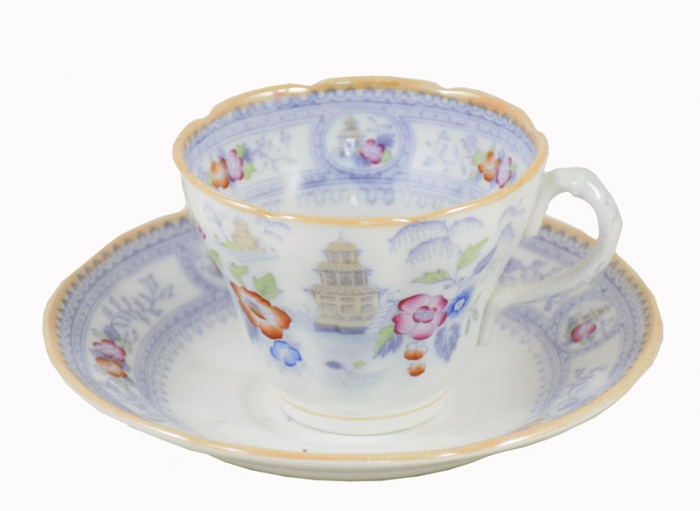 Cup and saucer Ristori ag. d 1