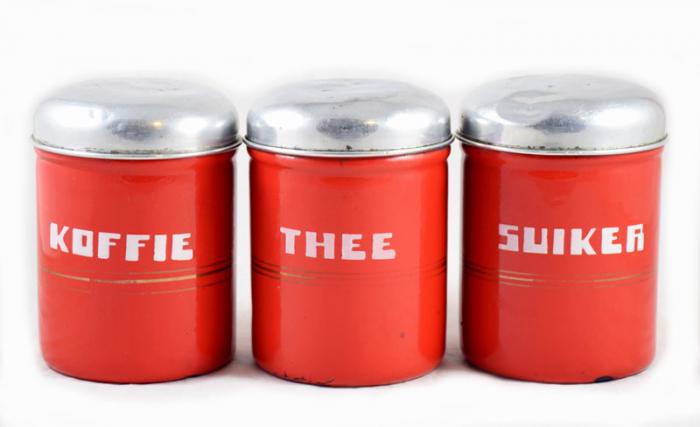 Koffie Thee Suiker bussen e. rd 1