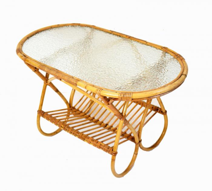 Rattan bamboo coffee table c. m2  sold
