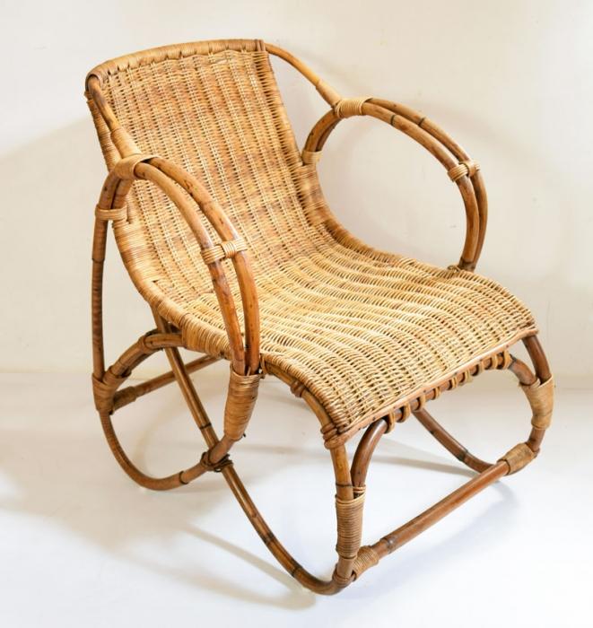Rotan bamboe stoel c.m 9
