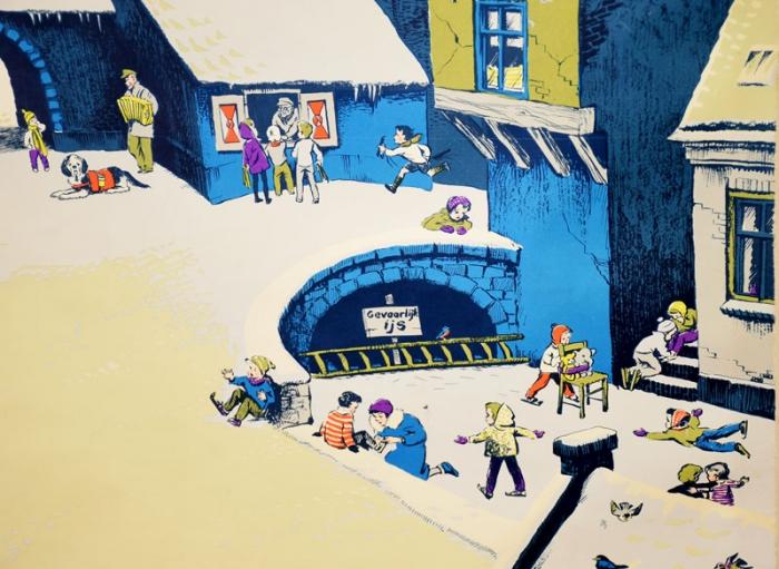 Schoolplaat Winter v.d. Hulst Jr.