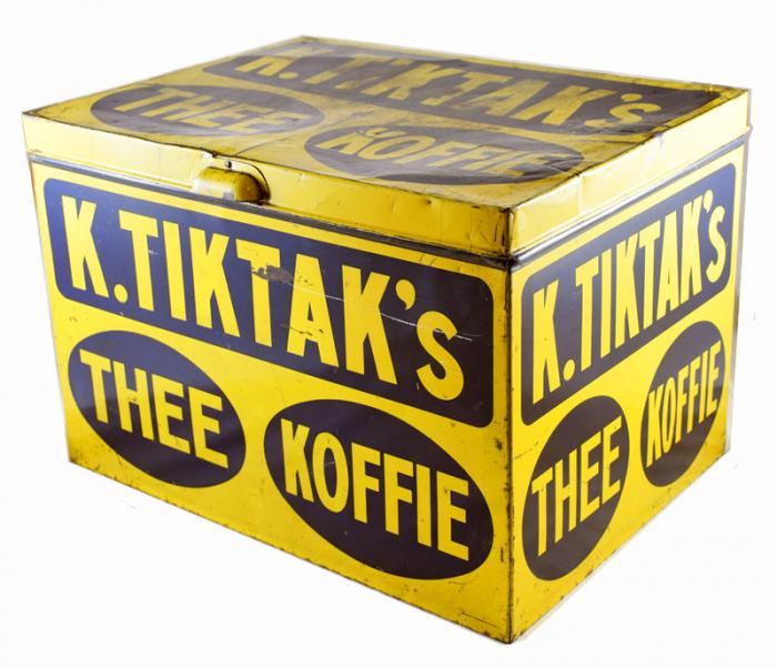 K. Tiktak's Thee Koffie winkelblik c. b 10