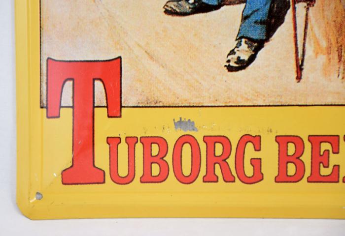 Tuborg Beer reclamebord c. r 17