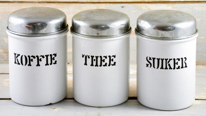 Set antique kitchen canisters e. w 4
