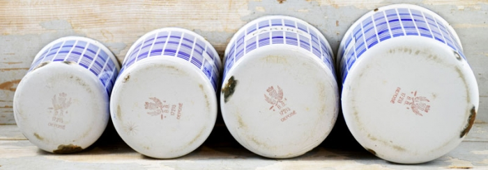 French kitchen canister set e. bl 10
