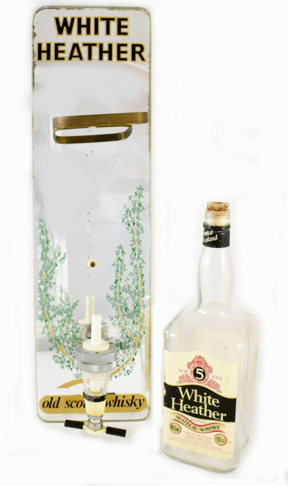 White Heather old Scotch whisky bar dispenser