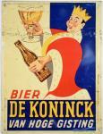 De Koninck bier reclamebord c. r 17