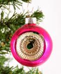 Pink indent Christmas ball k. bg 11