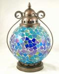 Blue tiffany lamp
