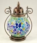 Kleine tiffany lamp blauw