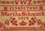German school sampler t.d 3