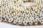Lange kralenslinger zilver