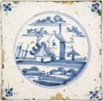 Wall tile Delft blue nr. 6